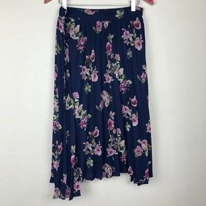 pleated floral Miami skirt size L
